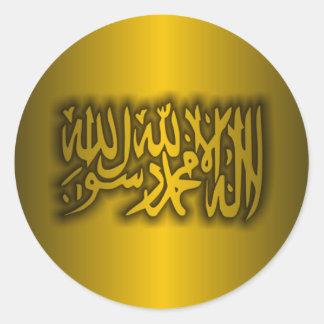Credo islámico pegatina redonda