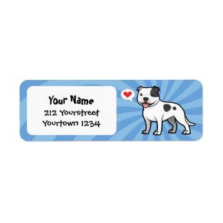 Cree a su propio mascota etiquetas de remite