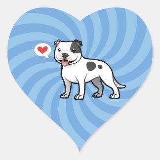 Cree a su propio mascota pegatina en forma de corazón