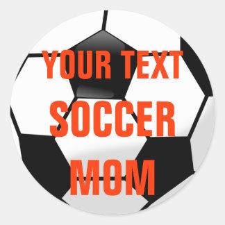 Cree a su propio pegatina del balón de fútbol de l