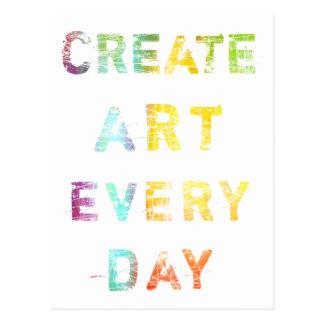 Cree el arte cada día postales