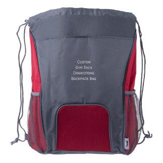 Cree el bolso de encargo de la mochila del lazo mochila de cordón