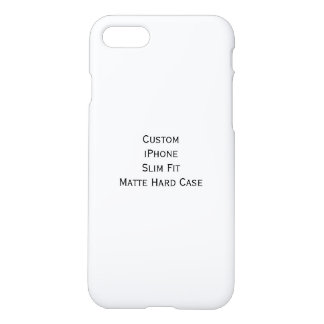 Cree el estuche rígido de encargo fresco del mate funda para iPhone 7