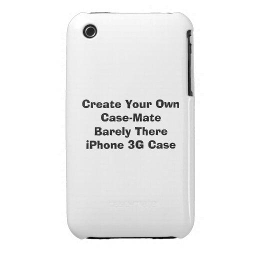 Cree el iPhone 3G de Barely There de la casamata iPhone 3 Cárcasas