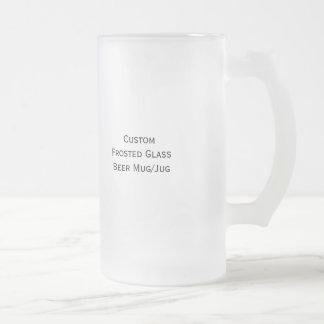 Cree el jarro de encargo de la cerveza del vidrio taza cristal mate