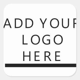Cree el logotipo para requisitos particulares pegatina cuadrada