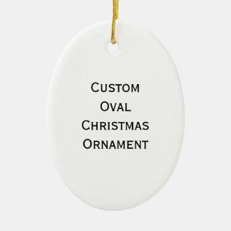 Cree el ornamento oval de encargo del navidad ornaments para arbol de navidad
