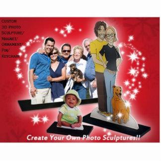 Cree el regalo cortado las esculturas de encargo fotoescultura vertical