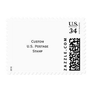 Cree el sello de encargo de la foto de la postal