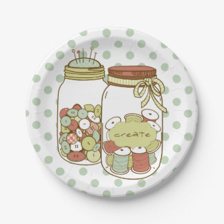 Cree el tarro de albañil y la placa de papel de platos de papel