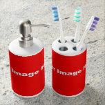 Cree el tenedor del cepillo de dientes y el vaso para cepillos de dientes