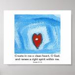 Cree en mí un corazón limpio poster
