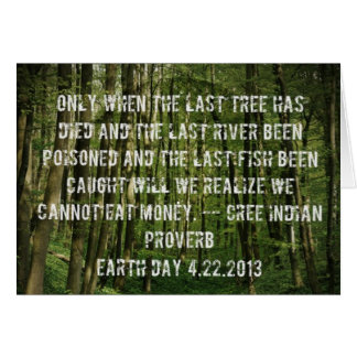 Cree Indian Earth Day Quote Card