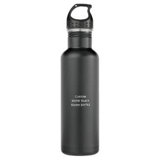 Cree la botella de agua negra mate elegante de