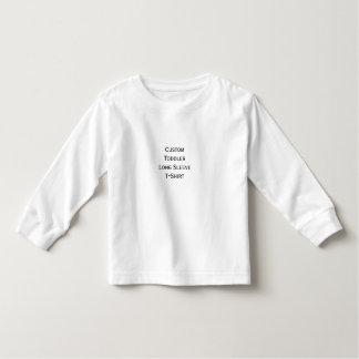 Cree la camiseta de algodón larga de la manga del