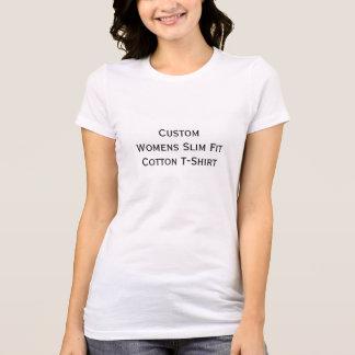 Cree la camiseta de algodón para mujer de encargo playera