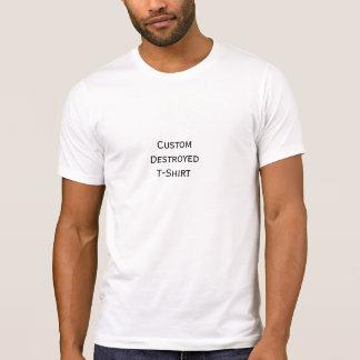 Cree la camiseta destruida elegante fresca de playera