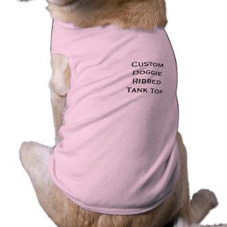 Cree la camiseta personalizada personalizado del playera sin mangas para perro