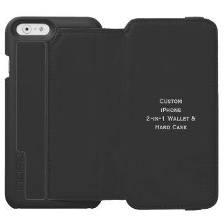 Cree la cartera in-1 y el estuche rígido de funda billetera para iPhone 6 watson