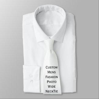 Cree la corbata ancha de la foto para hombre de corbata fina