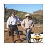 Cree la foto envuelta del Gunslinger de la lona Impresiones En Lienzo Estiradas