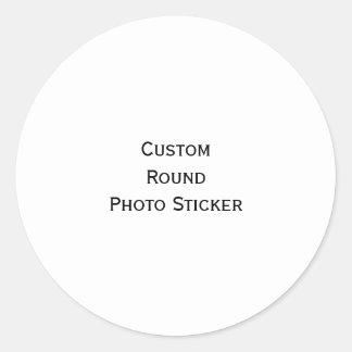 Cree la hoja redonda clásica de encargo de los etiquetas redondas
