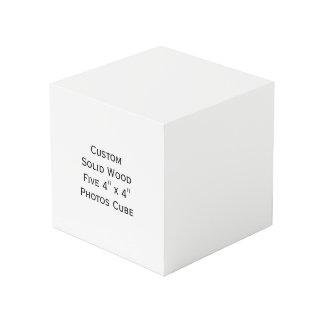 Cree la madera sólida de encargo cinco cubos de 4