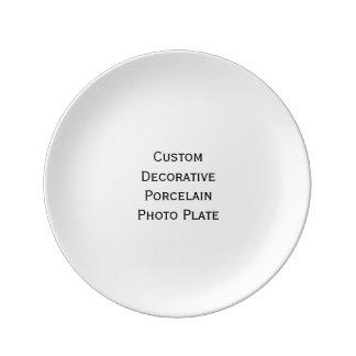 Cree la placa decorativa de encargo de la foto de plato de cerámica