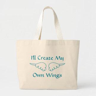 Cree las alas bolsa tela grande