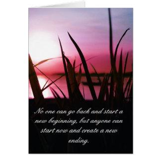 Cree lo que usted quiere comienzo del ~ ahora tarjeta de felicitación