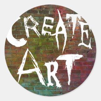 Cree los diseños del arte etiqueta redonda