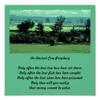 cree prophecy quote landscape poster