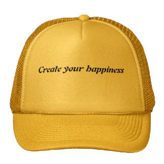 Cree su felicidad gorro de camionero