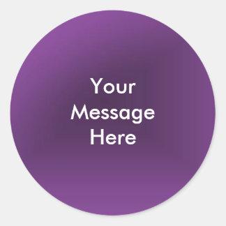 Cree su mensaje pegatina redonda