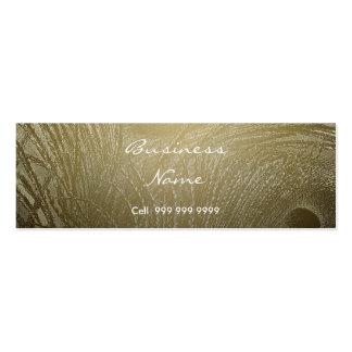 Cree su pluma del pavo real de la tarjeta de tarjetas de visita mini
