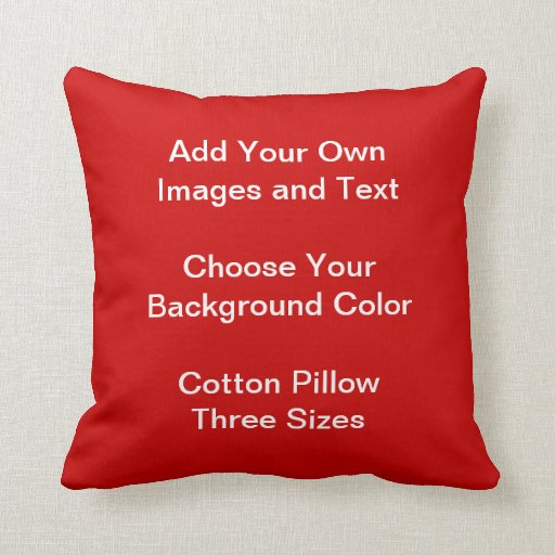 Cree su propia almohada de tiro del algodón