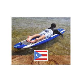 Cree su propia bandera puertorriqueña impresiones de lienzo