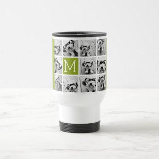 Cree su propia cal del collage de la foto de taza de viaje de acero inoxidable
