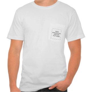 Cree su propia camiseta del bolsillo playera