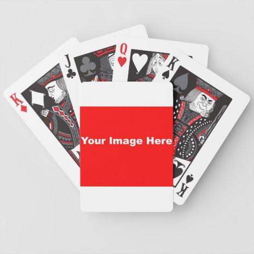 Cree su propia cubierta de tarjetas barajas de cartas