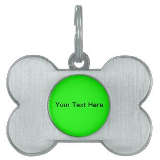 Cree su propia etiqueta del mascota placas mascota