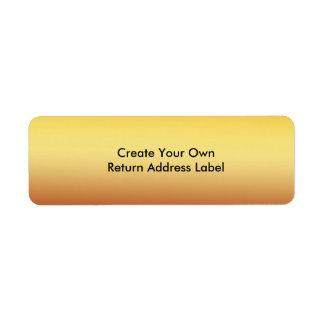 Cree su propia etiqueta del remite etiqueta de remite