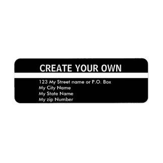 Cree su propia etiqueta simple del remite 9 etiqueta de remite