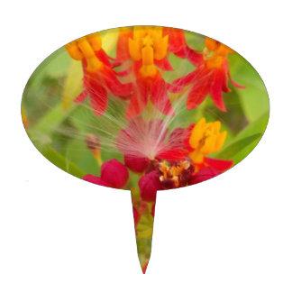 Cree su propia flor amarilla roja verde preciosa decoración de tarta