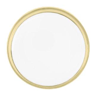 Cree su propia forma circular redonda del Pin de Pins Dorados
