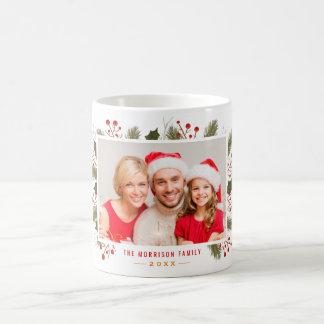 Cree su propia foto de familia del navidad del día taza de café