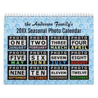 Cree su propia foto de familia estacional del calendarios