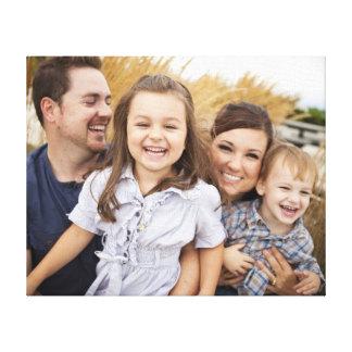 Cree su propia foto de familia impresión en lona estirada