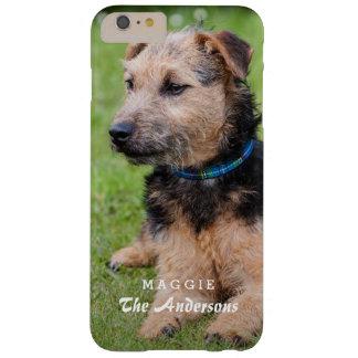 Cree su propia foto del mascota con nombre de funda para iPhone 6 plus barely there