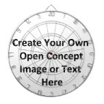 Cree su propia imagen o texto abierta del concepto tablero dardos